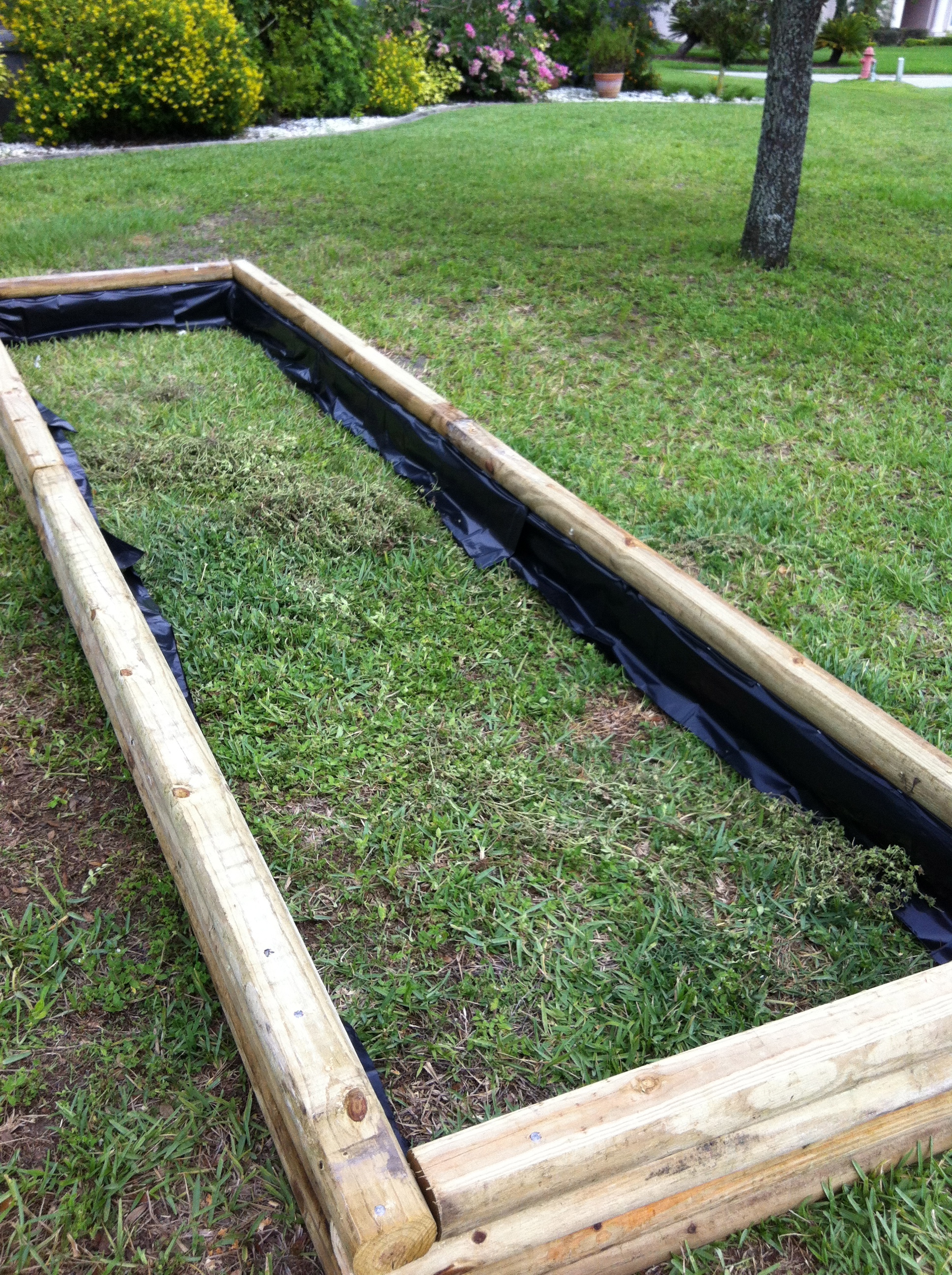 Landscape Timbers Raised Bed